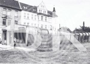 Letzte Zieharmonika-Kaufhalle Ernst-Lehmann-Platz, 1993