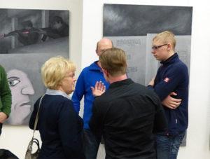Diskussion mit Besuchern